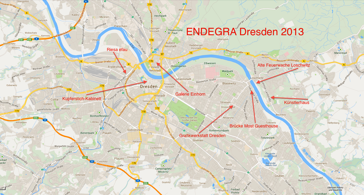 City map ENDEGRA Dresden 2013