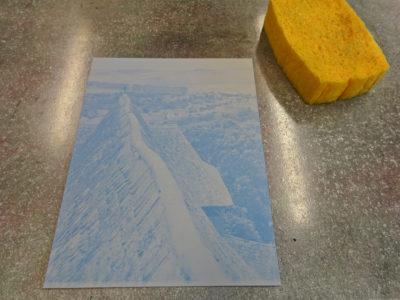 FotokornAlgrafie Druckplatte vor dem Einfärben
